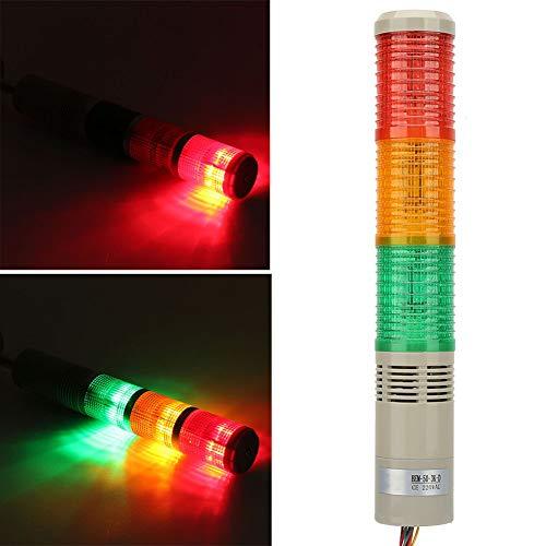 Luz de advertencia LED 220V DC Máquina de alto brillo Plegable Industrial...