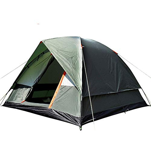 PN-Braes Tents Outdoor Storm-proof Camping Tent 4-person Double Deck Outdoor Family Camping Travel Tent for Outdoor and Hiking Traveling (Color : Green, Size : 3-4 persons)