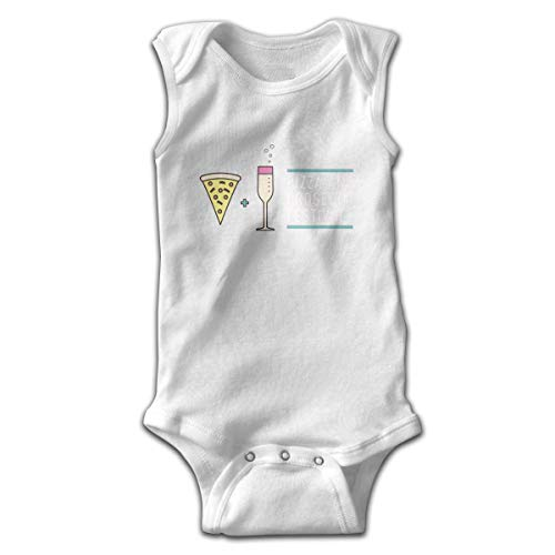 Ljkhas232 Baby Sleeveless Bodysuits Pizza Prosecco Unisex Cute Lap Shoulder Onesies 2T