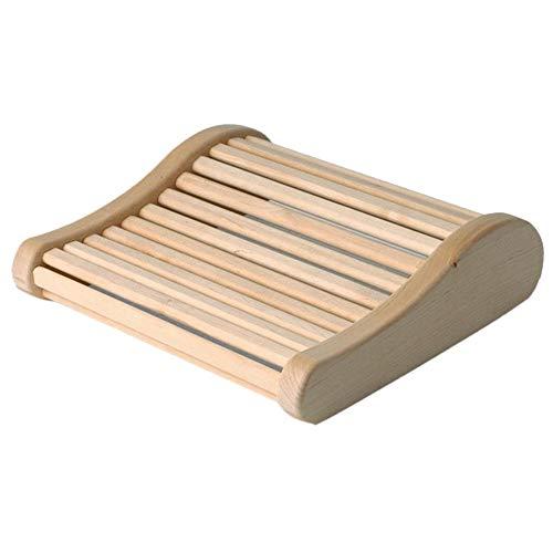 Holz Sauna Kopfstütze, Ergonomisch Saunakopfstütze Nackenstütze Beinauflage Rückenlehne, rutschfeste Holz Saunakissen, Entlastet Nacken Und Schultermuskulatur Entspanntes Relaxen