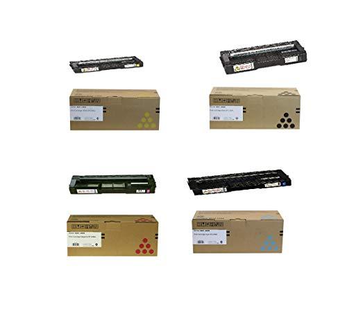Ricoh SP C250A 4 Color Toner Cartridges Bundle Black/Cyan/Magenta/Yellow for Richo SP C250SF/ SP C250DN Printers