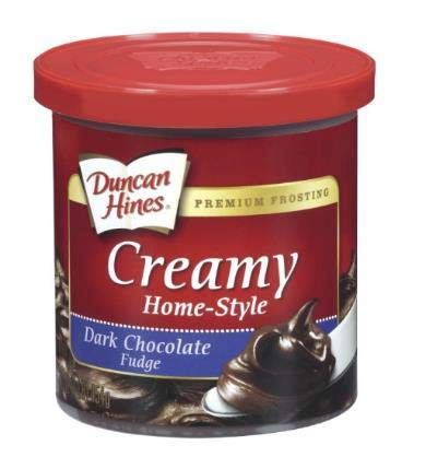 Duncan Hines Creamy Home Style Dark Chocolate Fudge Frosting 16oz - 2 containers