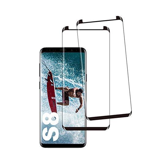Galaxy S8 Film Protection Ecran Verre Trempé, [2 Pièces] [Case Friendly] [Ultra Claire] [Dureté 9H] [Anti Rayures] Film Protecteur en Verre trempé de Haute qualité pour Samsung Galaxy S8