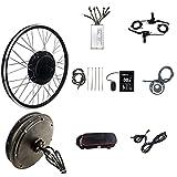 HYCy Kit de conversión de Bicicleta eléctrica Kit de conversión de Bicicleta eléctrica 20'/ 24' / 26'/ 27,5' / 28'/ 29er / 700C 48V 1500W Motor de Rueda de buje Trasero para Kit de c