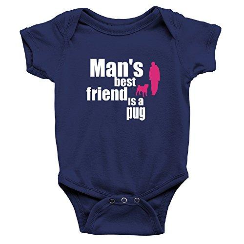 Teeburon Man's Best Friend is a Pug - Barboteuse