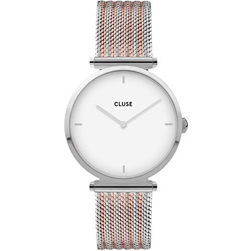 CLUSE Damen Analog Quarz Uhr mit Edelstahl Armband CW0101208003