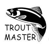 PJYGNK Sticker de Carro 15,2 CM * 12,6 CM Trucha Maestro Pesca de Peces arcoíris marrón Divertido Pegatina Lago Pegatinas de Coche Estilo de Coche...