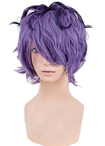 etruke Anime court Violet Wave mâle Lolita Cosplay Perruques