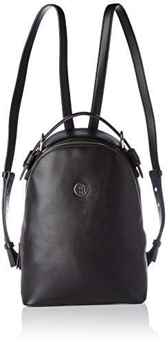 Tommy Hilfiger Classic Saffiano Backpack, Damen Rucksack, Schwarz (Black), 11x0.1x22 cm (W x H L)