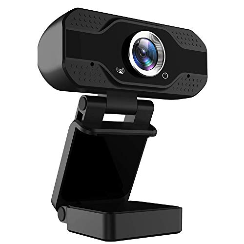 Webcam 1080p, Streaming Cámara Web con Micrófono, USB Webcam para Videollamadas, Grabación Skype Facebook, Computadora de Escritorio/Mac