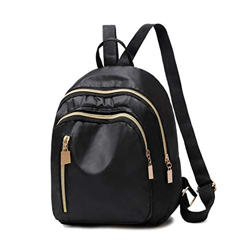 New Designer Fashion Women Backpack Mini Soft Touch Multi-Function Small Backpack Female Ladies Shoulder Bag Girl Purse (Color : 02 Black)