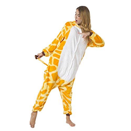 Katara 1744 -Giraffe Kostüm-Anzug Onesie/Jumpsuit Einteiler Body für Erwachsene Damen Herren als Pyjama oder Schlafanzug Unisex - 4