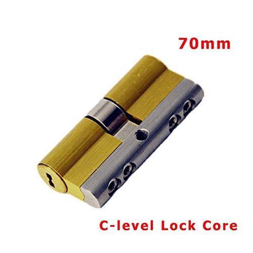 YGLONG Cerradura antirrobo para puerta, cerradura de cobre, cerradura de seguridad, 8 llaves, 70 mm (color: 70 mm, 32,5 añadir 37,5 mm)