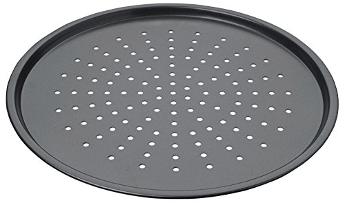 Chicago Metallic CMET16014 Professional Non-Stick Pizza Crisper Pan, Carbon Steel, Grey, 37 x 37 x 0,5 cm