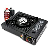 LVYUAN New Dual Fuel Propane or Butane Stove, Portable Camping and Backpacking 8,500 BTU Gas Stove Burner with Carrying Case