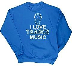 HippoWarehouse I Love Trance Music Camiseta Unisex beb/é Manga Larga