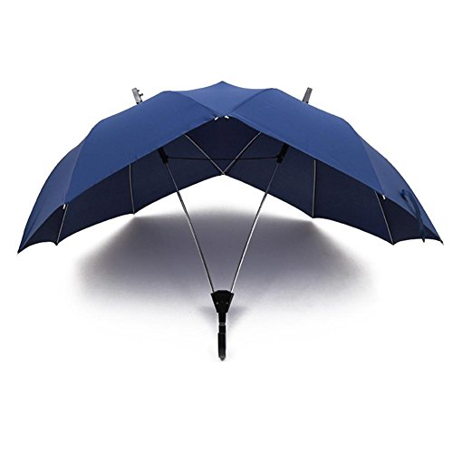 JAYLONG Travel Umbrella 8 Ribs Double Person Use Robusta portátil de Acero Inoxidable de construcción Fast Drying Plegable Impermeable Paraguas para Mujeres, Hombres, niños y niños