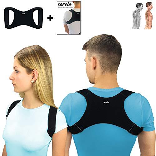 CORELO Vitalpuls Premium Geradehalter Haltungstrainer zur Haltungskorrektur Rückenstütze für Damen und Herren Größenverstellbar (S)