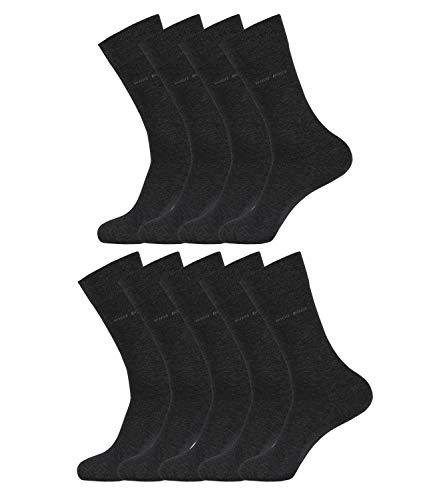 BOSS HUGO Herren Socken Strümpfe Business George RS Uni 50388433 9 Paar, Farbe:Grau, Größe:41-42, Menge:9 Paar (9x 1 Paar), Artikel:50388433-012 charcoal