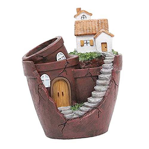 #N/A/a Plantas Creativas DIY contenedor Maceta Mini Jardín de Hadas Plantas de Flores para la Oficina en casa Escritorio Interior decoración de jardín al - Estilo 2