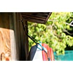 Pelican Double Kayak Storage Strap System - for Indoor and Outdoor Kayak & SUP Paddle Board Hangers - Comes with Paddle… 13 2 fully adjustable straps can also be used for hanging stand up paddle boards, canoes, surfboards, snowboards. Each strap is rated to hold up to 100 lb. and the overall system is rated to hold a total of 200 lb 2 loops for oars/paddles - SAVE SPACE - store your paddles and kayak off the ground and out of the way. Modular system can be use for one or two kayaks Easy to use Stainless steel heavy-duty carabiners and D-ring closure system