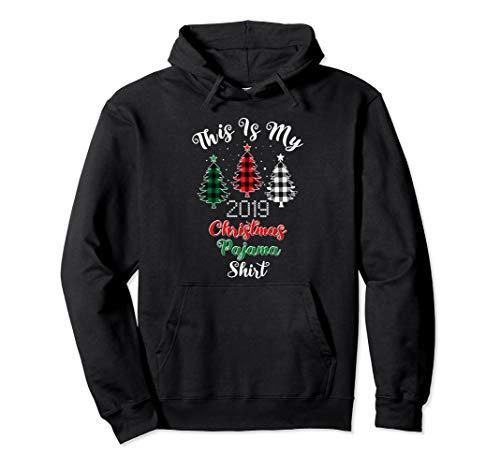 Dies ist meine Christmas Pyjama Buffalo Plaid Trees 2019 Pullover Hoodie