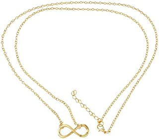 The Bling Stores Golden Infinity Belly Waist Chain kamarbandh Jewelry for Women