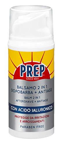 Prep, Dopobarba Antiage, Prep for Men, Crema Dopobarba Uomo con Acido Ialuronico, Crema Viso Giorno Antirughe, Idratante, Confezione da 180 g