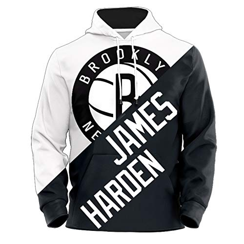 James Harden Basketball-Kapuzenpullover für Herren, 2021 New Season Brooklyn Nets 13# City Edition Basketball-Kapuzenpullover, langärmelig, modisch, (XS-2XL) Gr. L, Härter