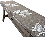 Cojín para banco jardín de 2/3 plazas para interiores y exteriores,cojín de asiento banco de madera,cojín repuesto para colchón de asiento muebles para columpio patio, antideslizante,con corbata