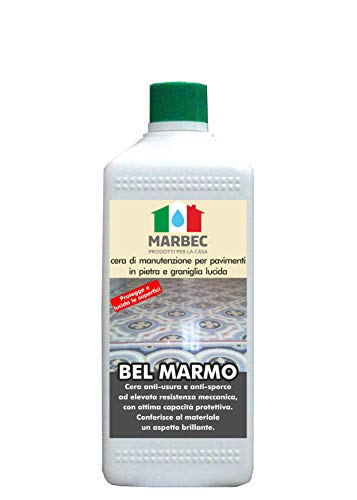 Marbec - Bel Marmo 1LT | Cera Auto-lucidante per Pavimenti in Pietra e graniglia Lucida