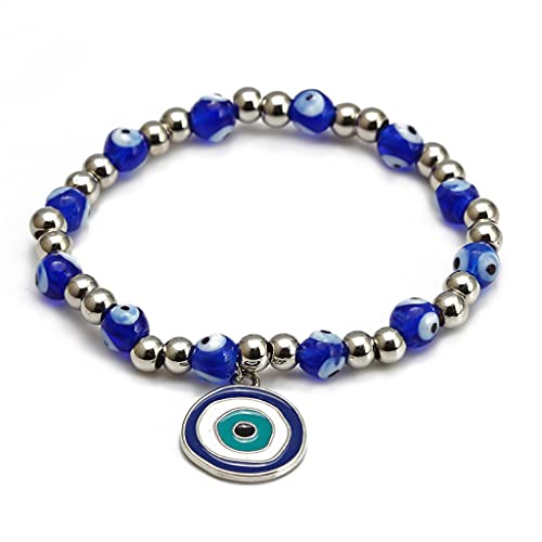 Blue Eyed Devil's Eye Beaded Bracelet Braided Bracelet Jewelry Accessories Turkish Lucky...