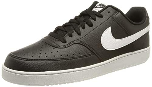 Nike Herren Court Vision Low Better Basketballschuh, Schwarz Weiß, 48.5 EU