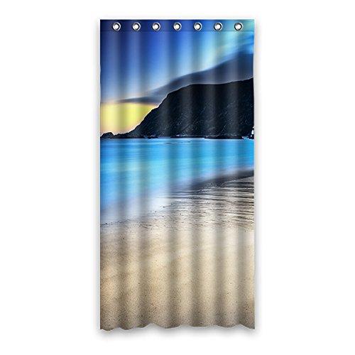 Einmal Young Sunlight Through Forest Muster Wasserdicht Polyester-Badezimmer-Dusche Vorhang 91,4x 182,9cm (90x 183cm), Polyester, K, 36