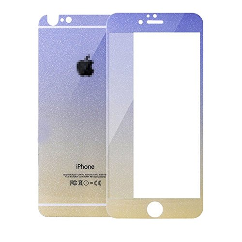 """Purple Yellow Colorful Tempered Glass Screen Protector For iPhone 6 / iPhone 6S Security Guard Film Extreme Clarity Shield Anti Scratch Fingerprint Resistant Explosion Proof Oleophobic 4.7""""Screen"""