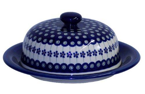 Original Bunzlauer Keramik Käseglocke L/Servierglocke groß Ø 27,5 cm im exklusiven Dekor 166a