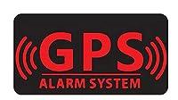 WZZA 車のステッカーファッション 警報システム追跡装置セキュリティ安全警告ビニールデカールステッカー車のステッカー窓4CMX3CM (Color Name : BLACK)