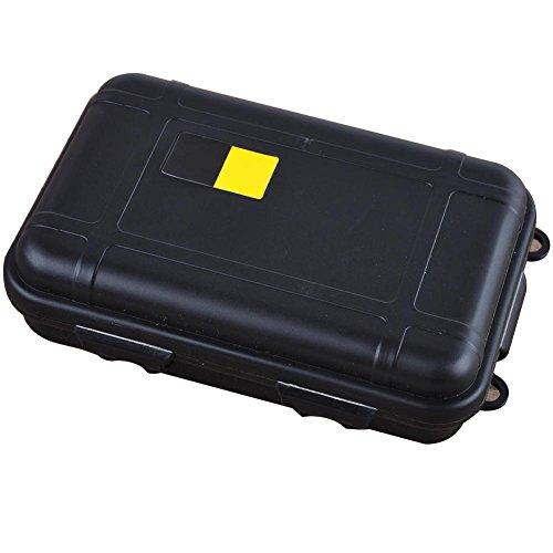 ghfashion Boîte de Transport hermétique pour extérieur, étanche, résistant aux Chocs, conteneur de Survie (1 pièce) S Noir