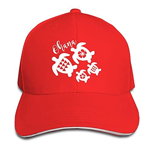 XCNGG Casquette pour Hommes et Femmes, Ohana Honu Hawaiian Sea Ajustable Peaked Sandwich Cap Casquette Cowboy Hat