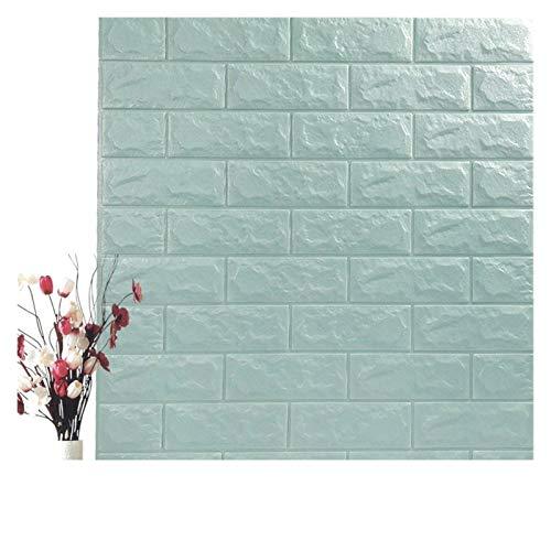 WHYBH HYCSP Self Adhesive Wasserdicht Hintergrund Brick Tapeten-Wand-Aufkleber Wohnzimmer Tapeten Wandbild Schlafzimmer Dekorative (Color : Space Gray, Size : 70cm x7cm)