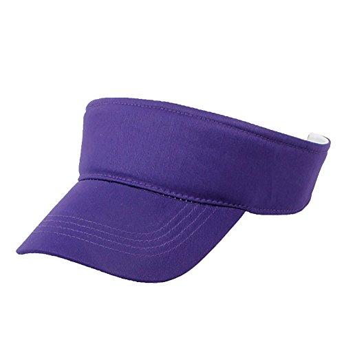 TopTie - Cappelli da golf per adulti e bambini, in cotone tinta unita, con visiera parasole regolabile Viola 6 3/4