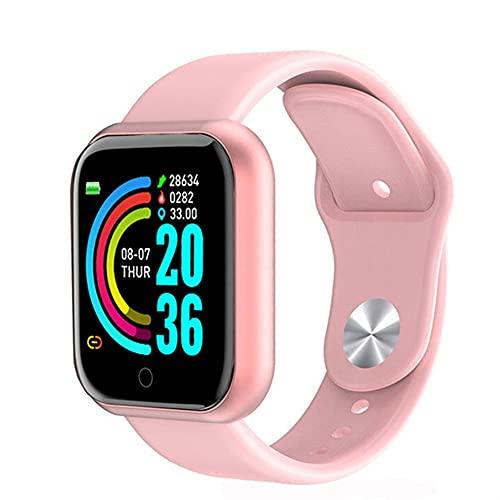 XRCK Fitness Tracker Ip67 Pulsera Inteligente a Prueba de Agua Podómetro Bluetooth Reloj Despertador Recordatorio de Llamada para Dormir (Color : D)