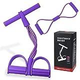 Sit Up Pull Rope Pedale, Multifunzione Resistenza Allenamento, Sit-up Bodybuilding Expander, Attrezzi per Interno Cosce, Esercitatore per Gambe, Pedal Pull Rope, per lo Yoga in Palestra a Casa