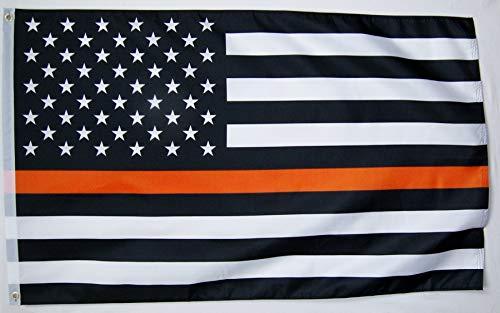 Narrow Thin Orange Line Search & Rescue (SAR) USA Memorial Flag 3x5feet Indoor Outdoor Banner
