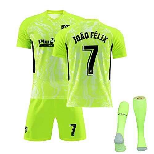 PGOTYY Uniforme de camiseta de fútbol de Madrid, Félix Koke Suárez, 2020/21, tercera equipación, traje de fútbol, regalo, set personalizable Third7-S