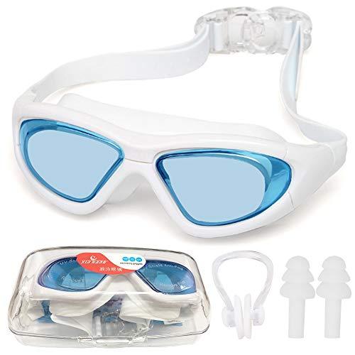 VisSec Gafas de natación antivaho, protección UV, impermeables, unisex, polarizadas, para adultos