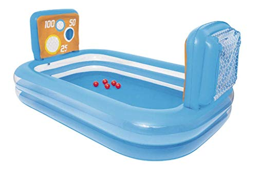 PandaG Gefalteter Aufblasbarer Fußball Pool, Pool-Baby-Spielzeug Tragbares Plastikwanne Aufblasbares Spielzentrum EIN Seichtes Becken Becken 237 * 152 * 94cm