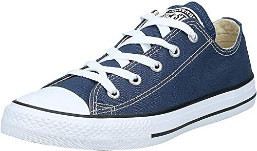 Converse Unisex-Child Chuck Taylor All Star Low Top Sneaker, navy, 7 M US Toddler