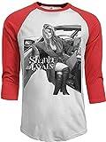 Shania Twain Mens Casual 3/4-Sleeve Raglan T-Shirt,Red,XX-Large