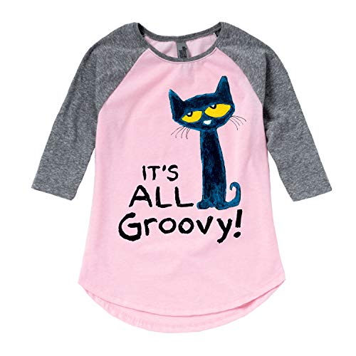 Pete The Cat It's All Groovy - Youth Girl Shirt Tail Raglan